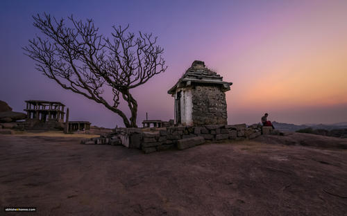 Catching the sunset in Hampi