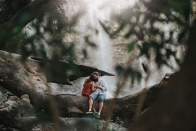 Farah & Cory, Engagement Waterfall Costa Rica