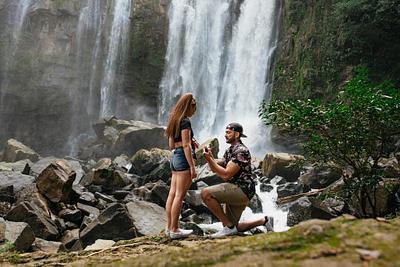 Kelcie & Richard, Surprise Proposal, Nauyaca Waterfall Costa Rica