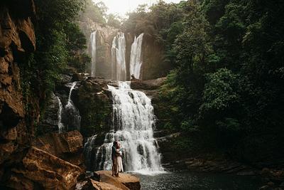 Jinna & John, Waterfall Engagement, Costa Rica