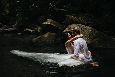 Ashley & Doug, Waterfall Elopement Costa Rica