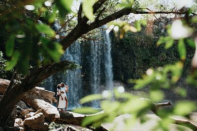 Tonya & Brandi, Waterfall Engagement Costa Rica