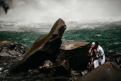 Chidinma & Wisdom, La Fortuna Waterfall Photoshoot Costa Rica