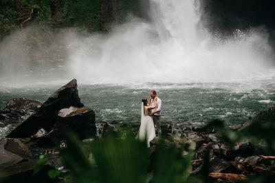 Kate & Alex, Waterfall Elopement Costa Rica