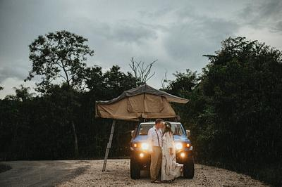Elopement framed by a unique dwarf forest, Rio Perdido Costa Rica