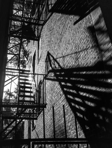 Beacon Hill  Fire Escape Shadow Absract