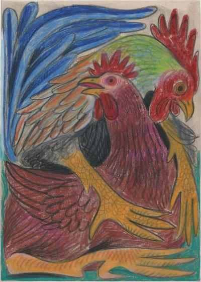 Mating Rooster and Hen II