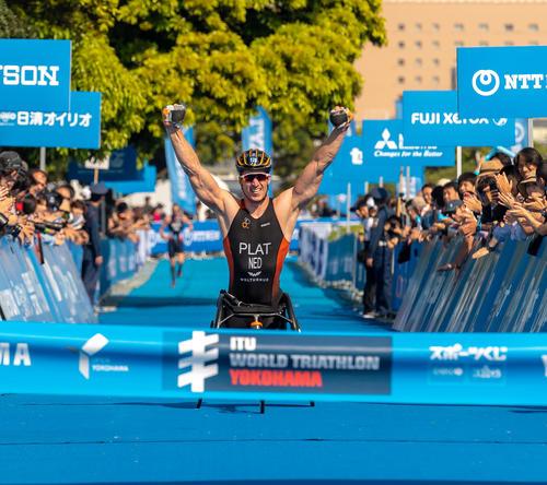 Jetze Plat wins Yokohama 2018 Triathlon ANP
