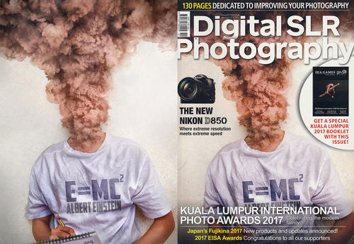 E=MC² - DigitalSLR Magazine Malaysia October Coverpage