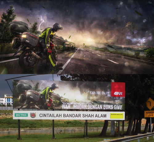 Brace The Storm - Givi Asia Highway Billboard