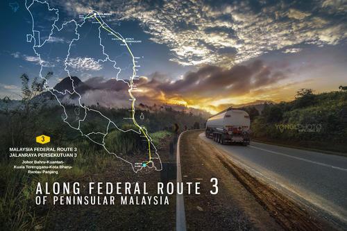 Along Federal Route 3 of Peninsula Malaysia