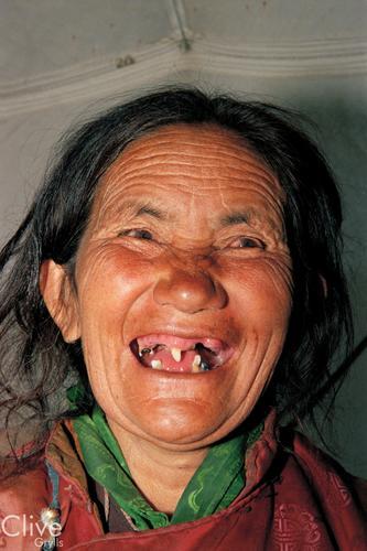 Local lady at Korzok, Ladakh.