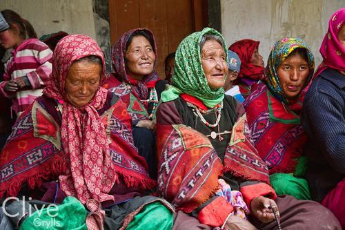 Local ladies at the Korzok Gompa, Ladakh.