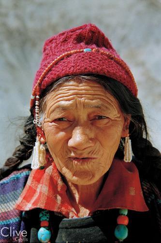 Old lady at the Lamayuru Gompa, Ladakh.