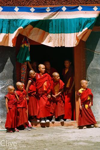 Young monks at the Phyang Temple TseDup festival, Ladakh.