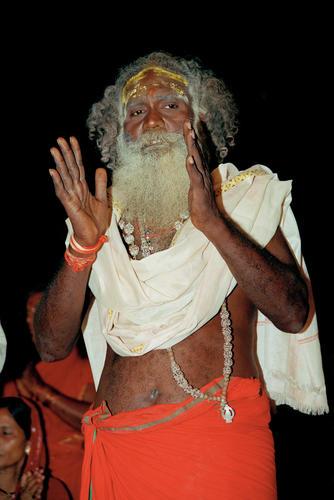 Hindu sage. Varanasi, Uttar Pradesh.