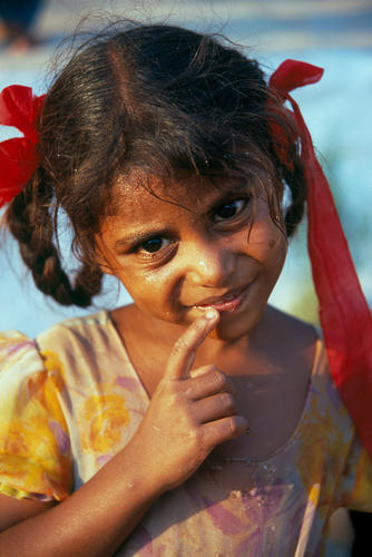 Young girl at Hampi, Karnatica.