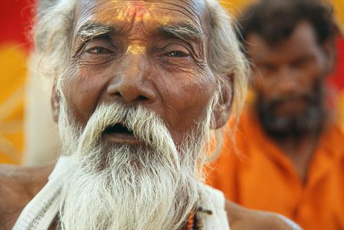 Devotee at the Kumbh Mela festival, Ujjain, Madhya Pradesh.