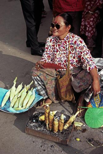 Corn vendor in Darjeeling, West Bengal.