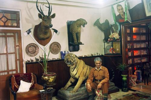 Rajah Banerjee, the owner of the Makaibari Tea Estate at his old colonial house at Kurseong, West Bengal.