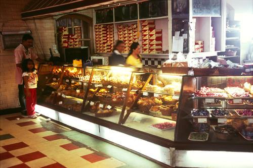 Glenarys bakery and restaurant on the Mall, Darjeeling, West Bengal.
