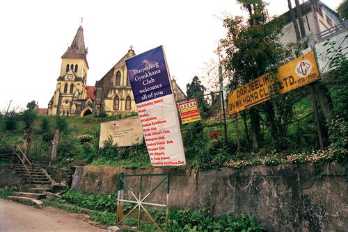 Entrance to the Gymkhana Club, Darjeeling.