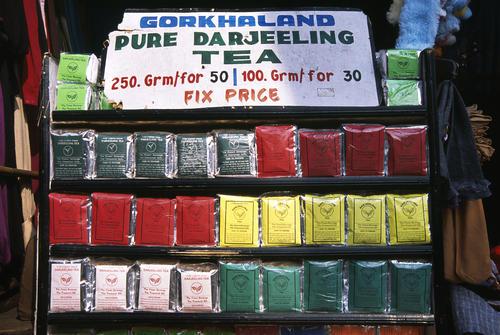 Tea stall in the Mall, Darjeeling.