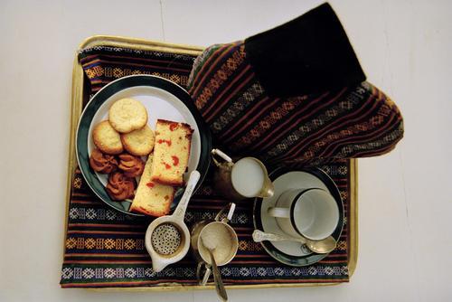 Afternoon tea served at the Elgin hotel, Darjeeling.