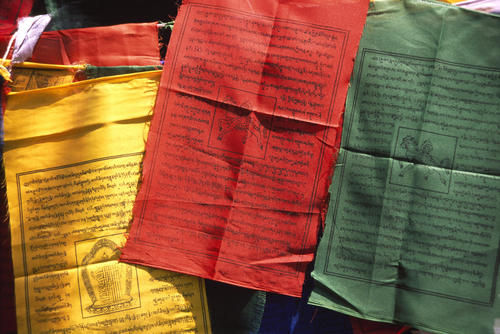 Prayer flags at the Observatory Hill, Darjeeling, West Bengal.