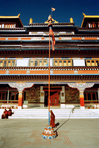 The Dali Gompa just one of many monasteries close to Darjeeling in West Bengal.
