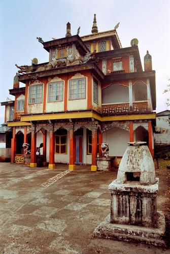 Bhutia Busty Gompa in Darjeeling in West Bengal.