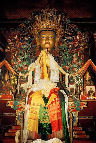 Idol at Yiga Choeling Monastery, Ghoom, West Bengal.