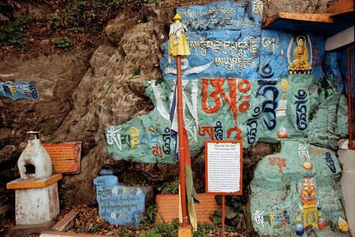 Tibetan Buddhist shrine located at Darjeeling, West Bengal.
