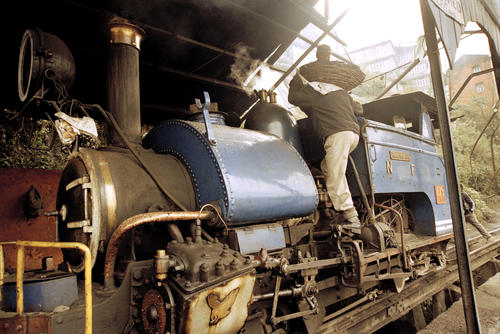Maintenance on the Darjeeling Himalayan Railway (also known as the DHR or 'Toy Train'), Darjeeling, West Bengal.