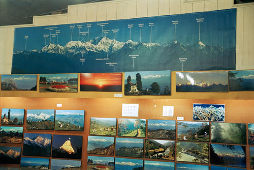 Photographs for sale at Das Studios located on the Mall, Darjeeling, West Bengal.