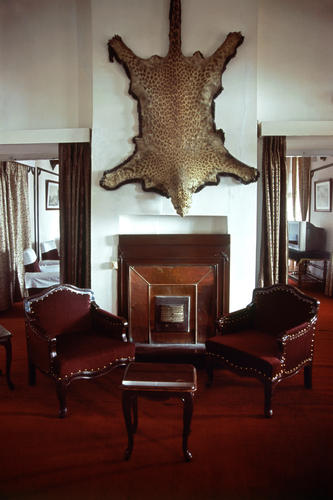 The lounge at the Planters Club in Darjeeling, West Bengal.