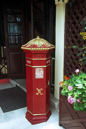 The postbox at the Windamere Hotel, Darjeeling, West Bengal.