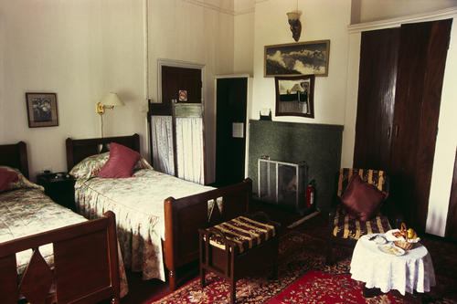 The Aga Khan suite at the Windamere Hotel, Darjeeling, West Bengal.