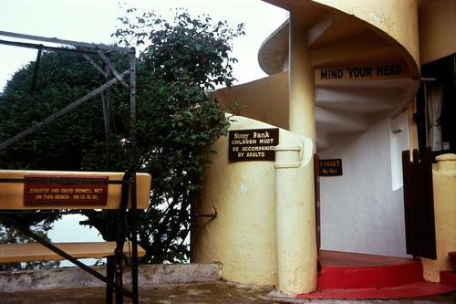 The garden/patio at the Windamere Hotel, Darjeeling, West Bengal.