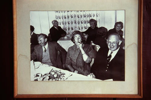 Picture hanging in the Windamere Hotel, Darjeeling, West Bengal.