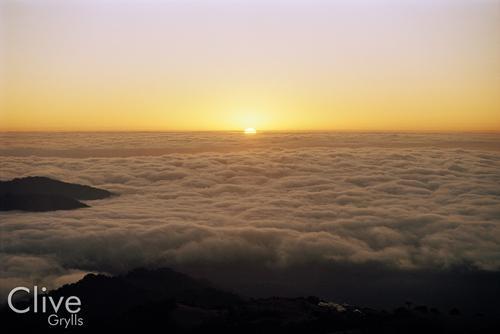 A panoramic view of the Indian Himalaya, near Singahila National Park, West Bengal.
