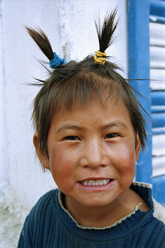 Young girl at Korzok, Ladakh.
