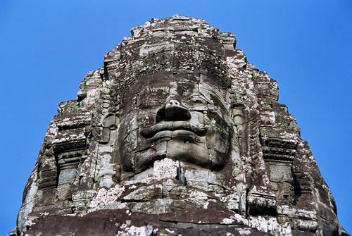 The 'Bayon', the state temple of of Angkor Thom the last and most enduring capital city of the Khmer empire, Siem Reap, Cambodia.