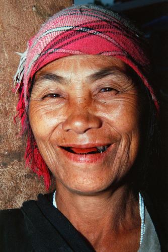 Tribal lady at the market at Muang Sing, Luang Namtha Province, Laos.