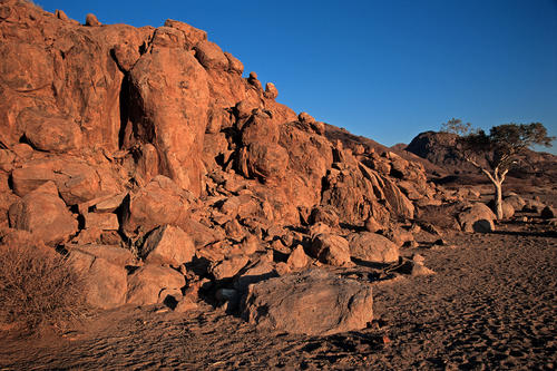Rock formations close to Twyfelfontien in the Kumeme region of Namibia.
