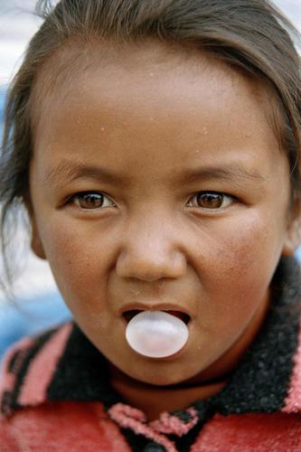 Young girl at Korzok, Ladakh.