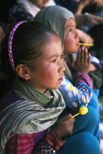 Young girls at Korzok, Ladakh.