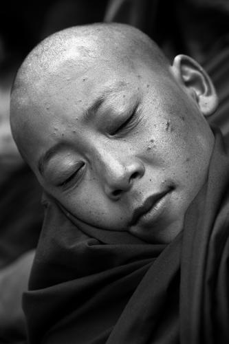 Monk at the Hemis Gompa, Ladakh.