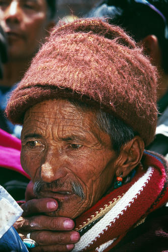 Old Man at the Hemis Gompa, Ladakh.