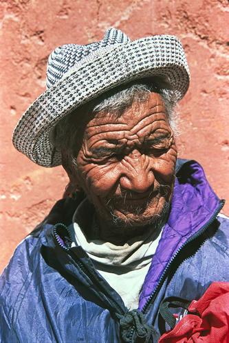Old man at Leh, Ladakh.